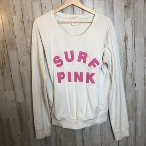 Size large white PINK Victoria's Secret sweater